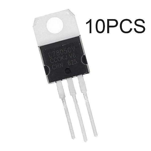 PoiLee 10pcs 7805 Voltage Regulator ic L7805 Voltage Regulator 5V 1.5A TO-220