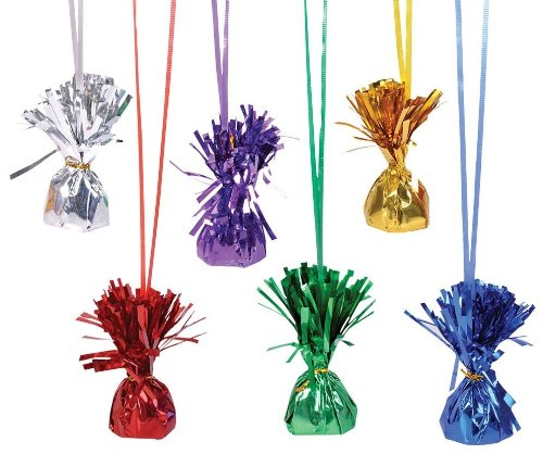 Metallic Balloon Weights - Assorted Colors (pack of 12)