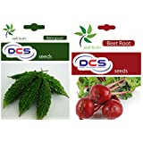 DCS Bittergourd And Beetroot Seeds (pack Of 2 Per Pack 50 Seeds)