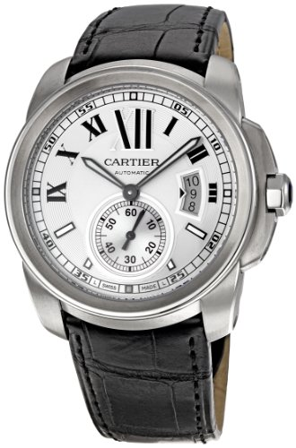 De Cartier Leather Strap Watch