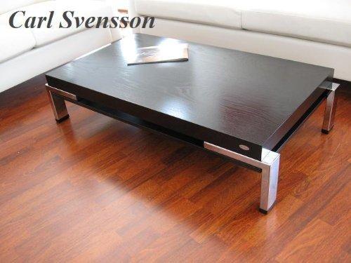 Design Couchtisch K-111 schwarz Chrom Carl Svensson Tisch Wohnzimmertisch