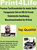 P4L - 10 Blatt T-Shirt Folie Transferfolie Textilfolie Transferpapier WEIß