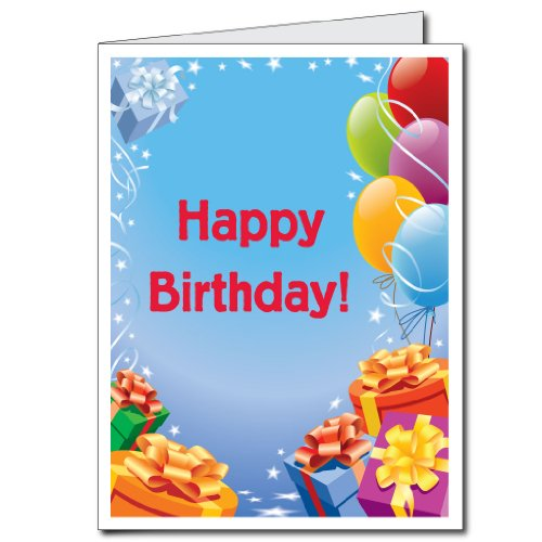 2'x3' Giant Presents and Balloons Birthday Card,