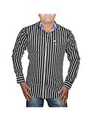 Hunk Men's Black Cotton Shirt - B00TB5ZOAQ