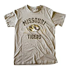 Missouri Mizzou Tigers Licensed Heather Gray T-Shirt by Knights Apparel