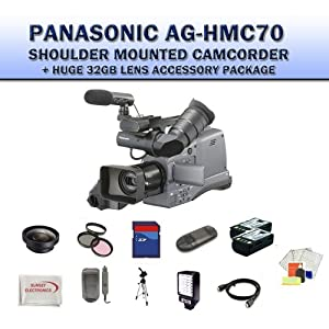 Panasonic AG-HMC70U Shoulder Mounted Camcorder + Huge 32GB Lens Accessory Package