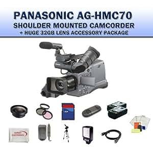 Panasonic AG-HMC70U Shoulder Mounted Camcorder + Huge 32GB Lens Accessory Package