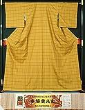 新品仕立上品 本場黄八丈 伝統的工芸品 綾織「まるなまこ」 証紙付き 【リサイクルきもの・リサイクル着物・アンティーク着物・着物買い取りの専門店・りさいくるきも kimono