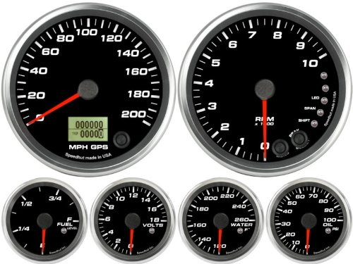 get price for Speedhut 6 gauge set - GPS Speedometer 200mph
