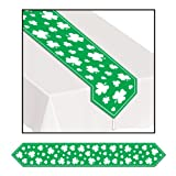 Beistle Printed Shamrock Table Runner