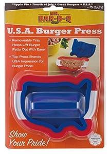 Mr. Bar-B-Q 40222X USA Shaped Single Burger Press from Mr. Bar-B-Q, Inc.