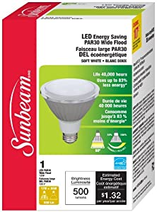 Sunbeam High Performance PAR30 LED Bulb, 11 Watts (Equivalent to 40 Watts)