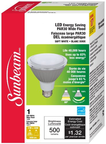 Sunbeam High Performance Par30 Led Bulb, 11 Watts (Equivalent To 40 Watts)