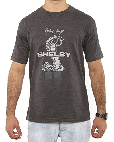 Shelby Cobra Collage Adult T-shirt (X-Large, Charcoal)
