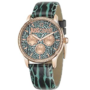 Just Cavalli R7251595504 Women's Mohak Green Dial Watch