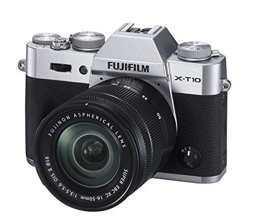 Fuji XT10 (Silver) with 16-50mm Lens (Black)