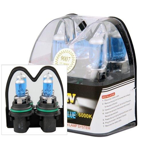 2 9007 Hb5 6000K Xenon Halogen Headlight Head Light Lamp Bulbs 100W