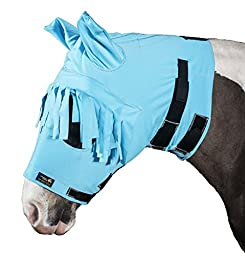 Snuggy Hoods Anti Itch Fly Mask - Insect & UV Protection (Haint Blue, S/M)