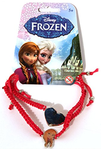 Frozen 2 Pink Cord Bracelets with Charms
