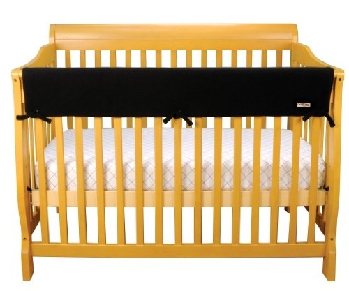 Trend-Lab-Fleece-CribWrap-Rail-Cover-for-Long-Rail-Black-Wide-for-Crib-Rails-Measuring-up-to-18-Around