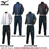 MIZUNO(ミズノ) ウインドブレーカーシャツ パンツ 上下セット 【メンズ】 (U2ME5510/U2MF5510) (L, ブラック×Cレッド(96/96))
