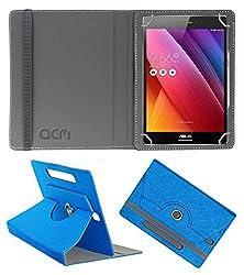 Acm Designer Rotating Leather Flip Case For Asus Zenpad S 8.0 Tablet Cover Stand Dark Blue