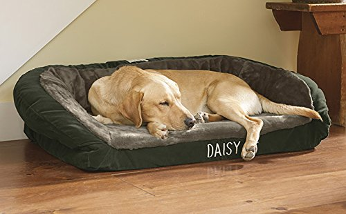 faux-fur deep dish dog bed with memory foam
