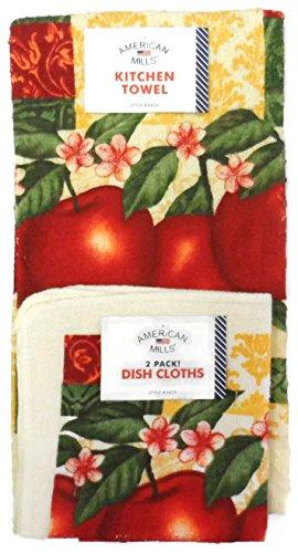 Red Apple Kitchen Towel Set