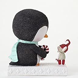 Enesco Stacy Yacula Penguin and Mouse Figurine, 4.875-Inch by Enesco