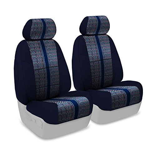 Coverking Custom Fit Front 50/50 Bucket Seat Cover for Select Infiniti FX-35/45 Models - Saddleblanket (Dark Blue with Neosupreme Navy Blue Sides) (Fx 35 Seat Cover compare prices)