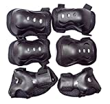 Natuworld Kid Toddlers Knee Elbow Wrist Safety 3-IN-1 Protective Guards Pads Set for Cycling Roller Skating Ice Skate Skateboard Bike Mini Bike Bicycle Cycling and Other Extreme Sports