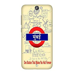 Wrapit Cities Mumbai Hard Back Case Cover For HTC A9