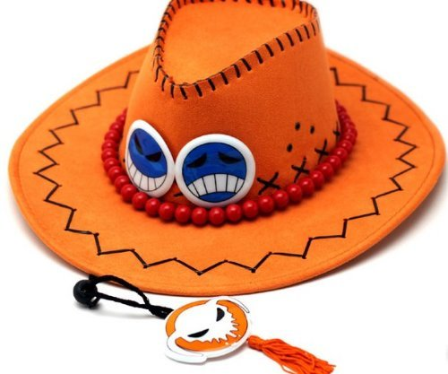 One Piece Ace Hat Hats Cap Orange cosplay (Ace Hat compare prices)