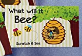 Gender Reveal Sex Scratch Off Cards - 'What Will It Bee?' Bumblebee- 10 Cards (Blue~ Boy)