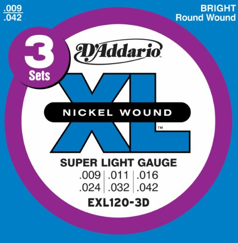 D'Addario EXL120-3D Nickel Wound Electric Guitar