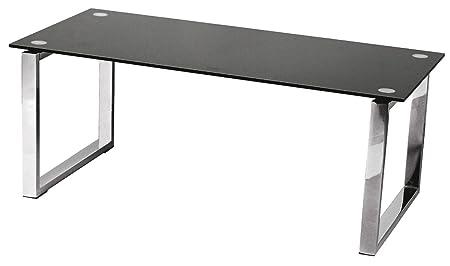 table verre trempe noir
