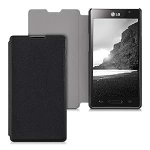 kwmobile Flip Case Hülle für LG Optimus L9 - Aufklappbare Schutzhülle Tasche im Flip Cover Style in Schwarz
