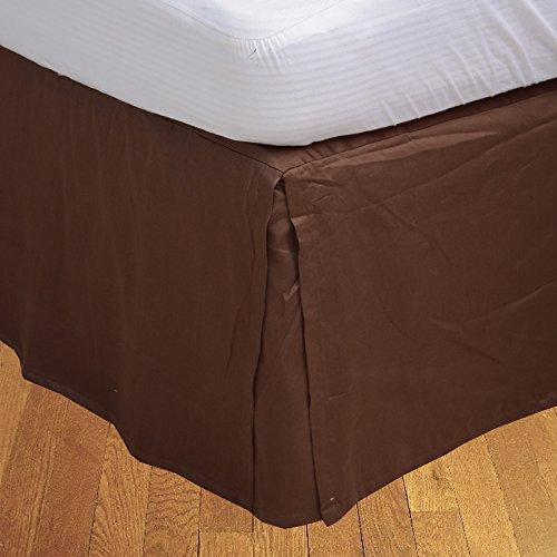 600tc-100-gyptische-Baumwolle-elegant-Finish-1-Box-Bundfaltenhose-Bettvolant-massiv-Drop-Lnge-33-cm-baumwolle-Chocolate-Solid-Doppelbett