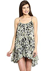Ladybug Womens Printed Balloon Dress - Green