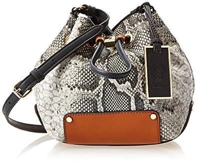 Vince Camuto Jill Python Cross Body Bag,Safari Python/Cuoio Combo,One Size