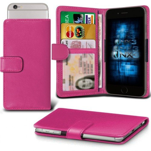 Samsung Galaxy J1 Ace Adjustable Spring Wallet ID Card Holder Case Cover (Hot Pink) Plus Free Gift, Screen Protector and a Stylus Pen, Order Now Best Valued Phone Case on Amazon! By FinestPhoneCases (Samsung Ace 2x compare prices)