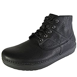 FitFlop Men\'s Flex Boot Chukka Boot,Black,11 M US