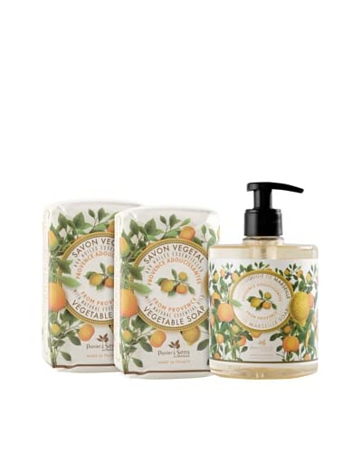 Panier des Sens Soothing Oils from Provence Liquid Soap and Vegetable Soaps, Set of 3