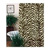 Zebra Cotton Blend Shower Curtain