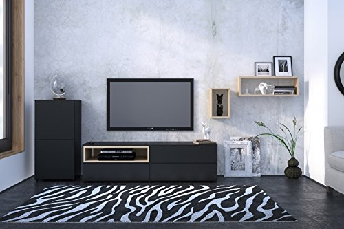 Nexera 223106 Avenue TV Stand, 60-Inch, Black