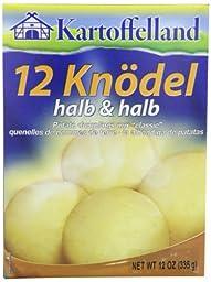 Kartoffelland 12 Knodel, Halb & Halb (12 Potato Dumplings Half & Half), 12-Ounce Boxes (Pack of 14)