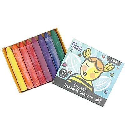Filana Organic Beeswax Stick Crayons, Set of 8 in a Carton