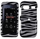 Hard Zebra Case Cover Faceplate Protector for LG VU PLUS GR700 with Free Gift Reliable Accessory Pen