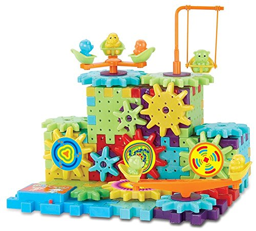 Interlocking Gears Building Blocks Construction Set Motorized Spinning Wheels With Multiple Variations - 81 pc 3D Learning Toy (Gears Building compare prices)
