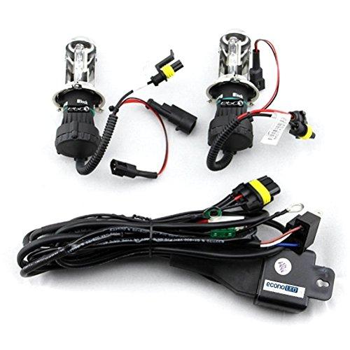 Econoled 2 pcs Car 6000K H4 Bi-Xenon HID Xenon Telescopic Lights Bulbs Lamps